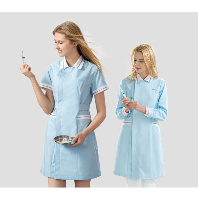 New style scrubs coat for female nurse