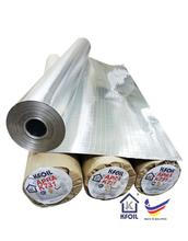 FIRE RETARDANT DOUBLE SIDED REFLECTIVE ALUMINIUM PAPER FOIL, 8x8 FIBERGLASS SCRIM REINFORCED Made in MALAYSIA