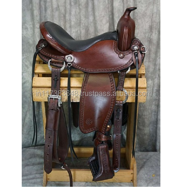 Hand Tooling Leather Western Saddle