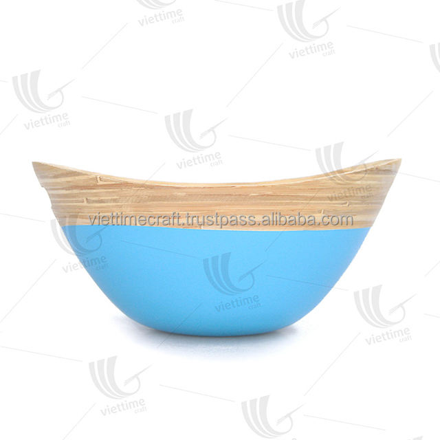 Eco-friendly super vietnam bamboo salad bowl