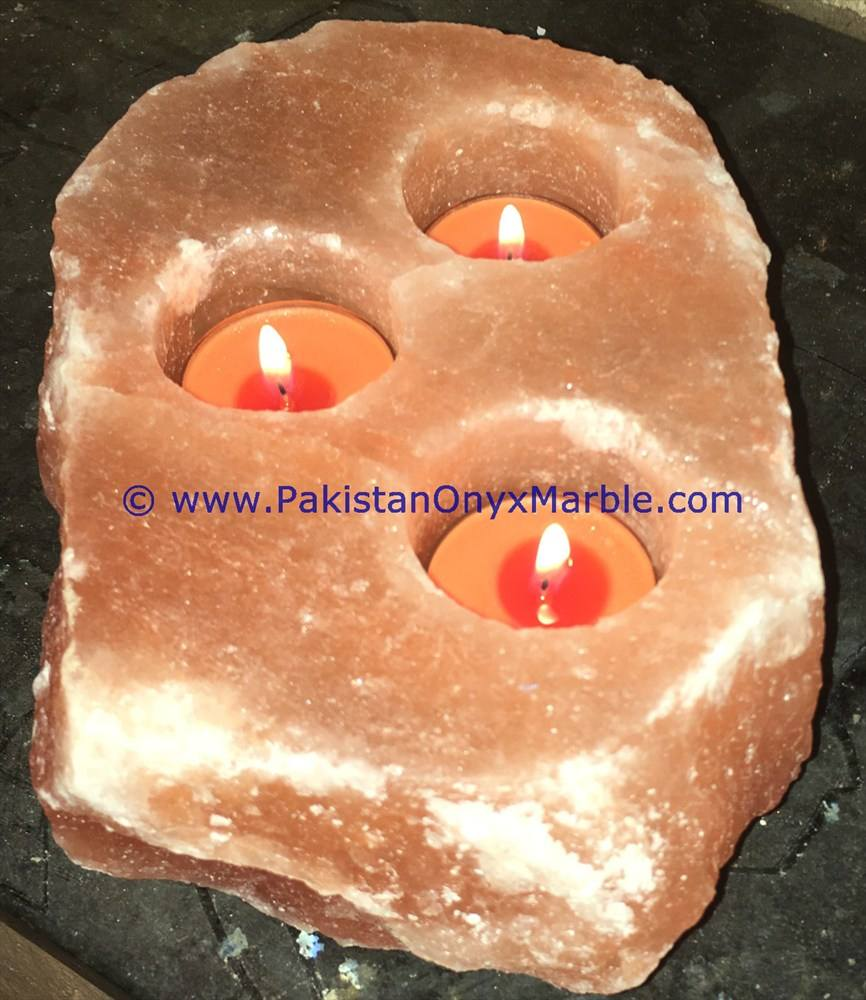 EXTREMELY EFFICIENT HIMALAYAN SALT CANDLE HOLDER TEA LIGHTS SINGLE HOLE/TWO/THREE