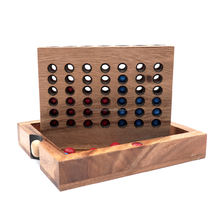 Kids Game Park Outdoos Easy Handing of Connect a Row in 4 in Wooden Designs Box