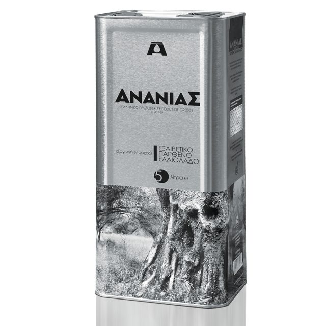 Extra Virgin Olive Oil from Greece in Metal Tin Packaging 5L