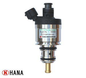 High Quality HANA GAS Fuel CNG/LPG rail type injector for Heavy Duty Truck H2200 (AMP 282104-1 Connector)