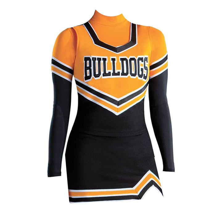 wholesale custom girl customer uniform for cheerleading with high quality sublimation cheerleading uniform
