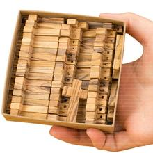 Small Olive Wood Crosses Retail Version Exclusive Edition 50 Crosses in the Paper Craft Box