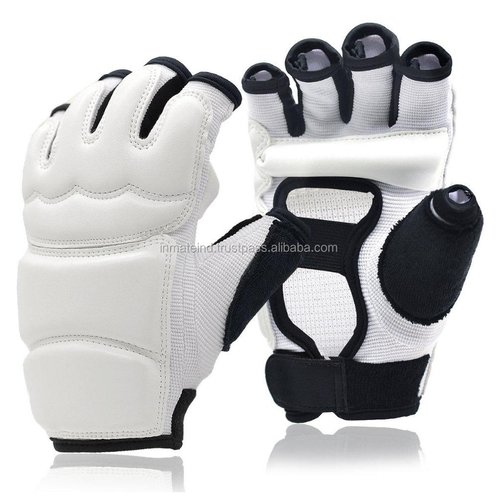 Wholesale half finger taekwondo grappling gloves