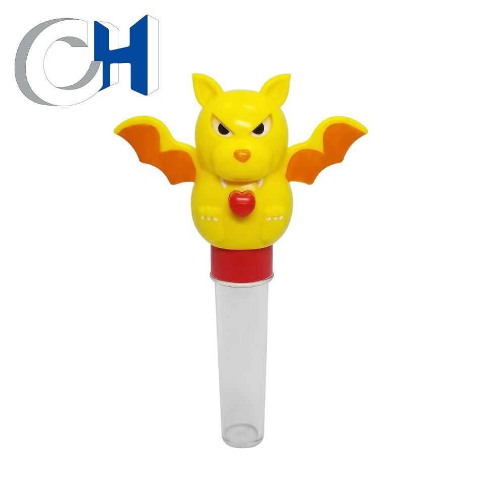 Promotional Funny Colored Plastic animal bat candy toy