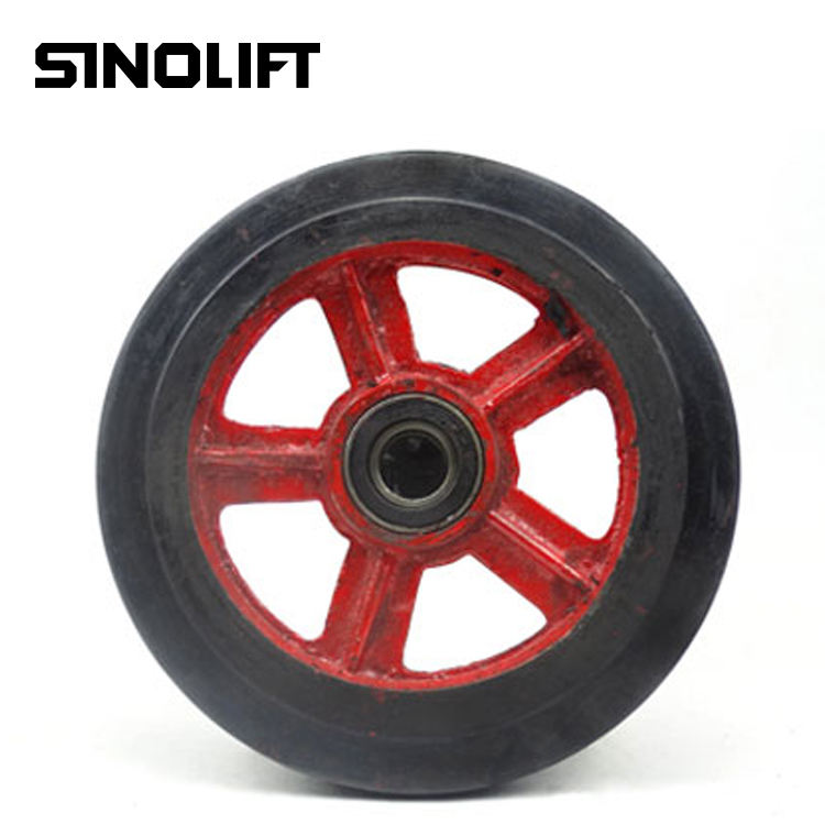 Sinolift hand pallet truck spare parts rubber wheel