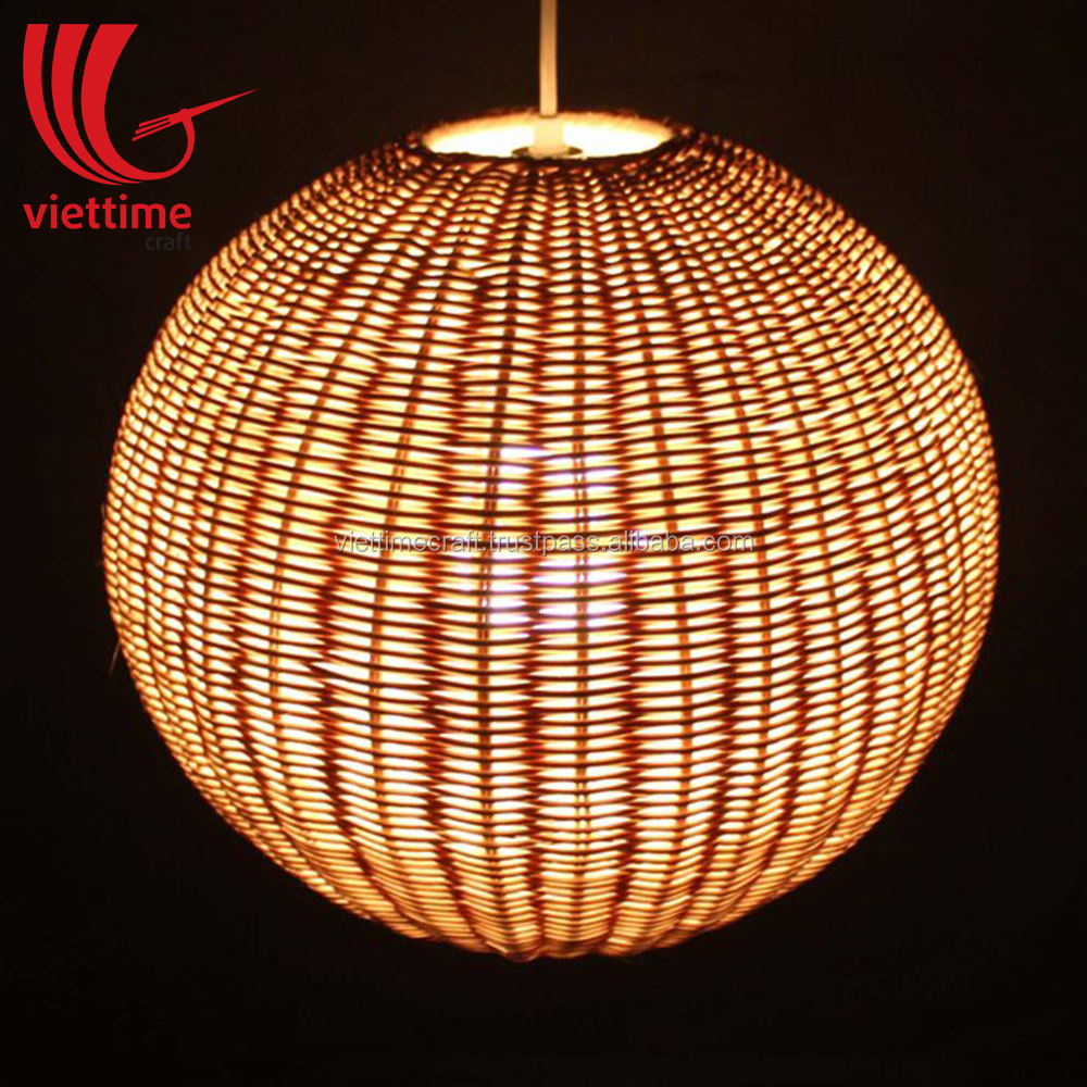 Wicker Ball Ceiling Rattan Lamp shade, Pedant Lampshade decor wholesale made in Vietnam