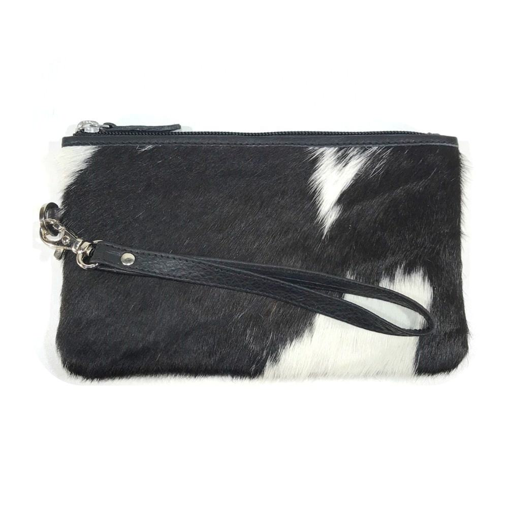 NEW Trending Real Cowhide Fur Leather Fashion Women Wallet Ladies Purses