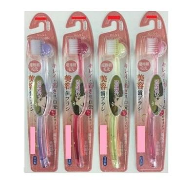 Made in Japan Massage Toothbrush for Beauty developed by Dentist Unique Product ~Soft Bristle Ver ~