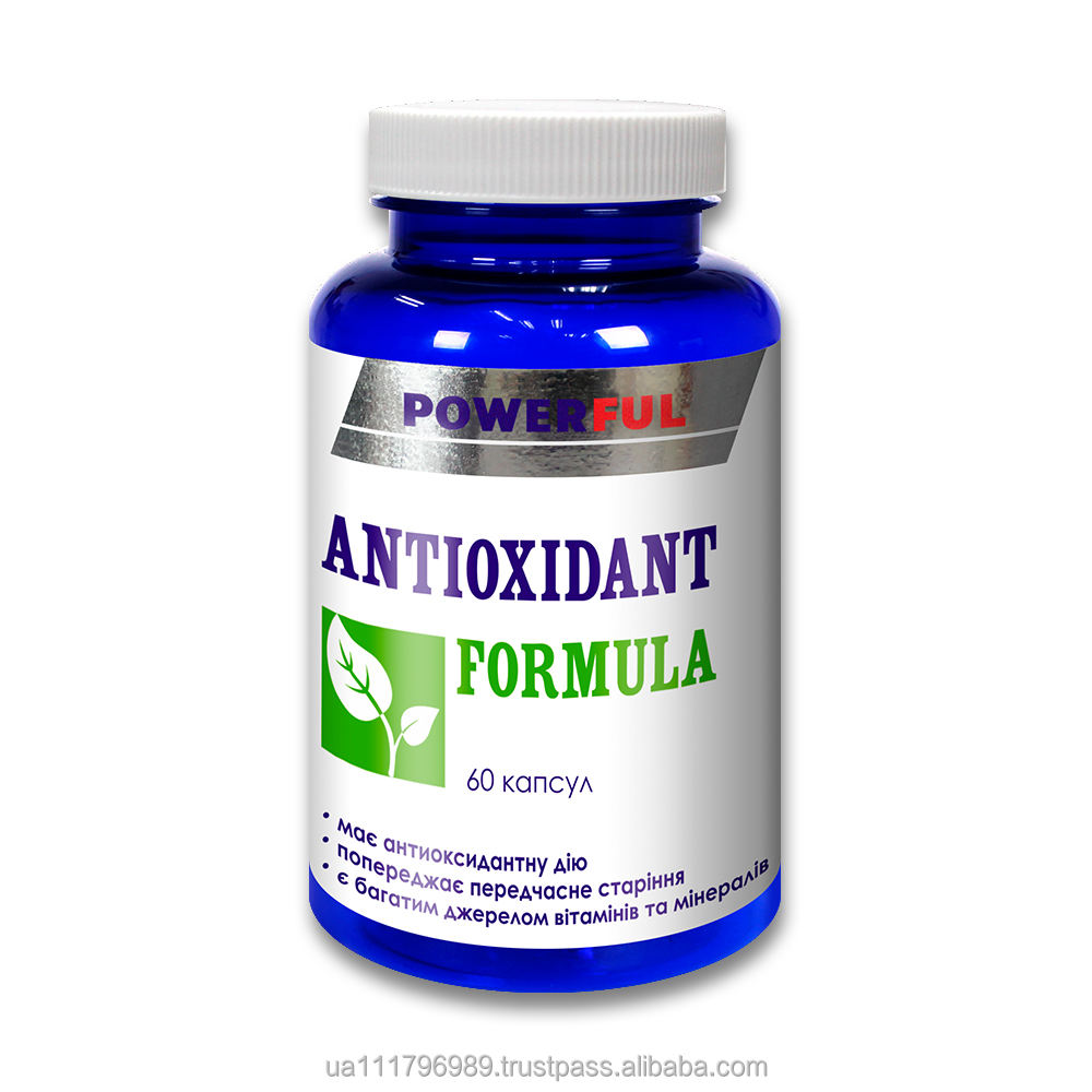 Antioxidant, body protection dietary supplement ANTIOXIDANT FORMULA in capsules Health Nutrition