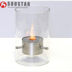 stainless steel round burner bio ethanol tabletop fireplace