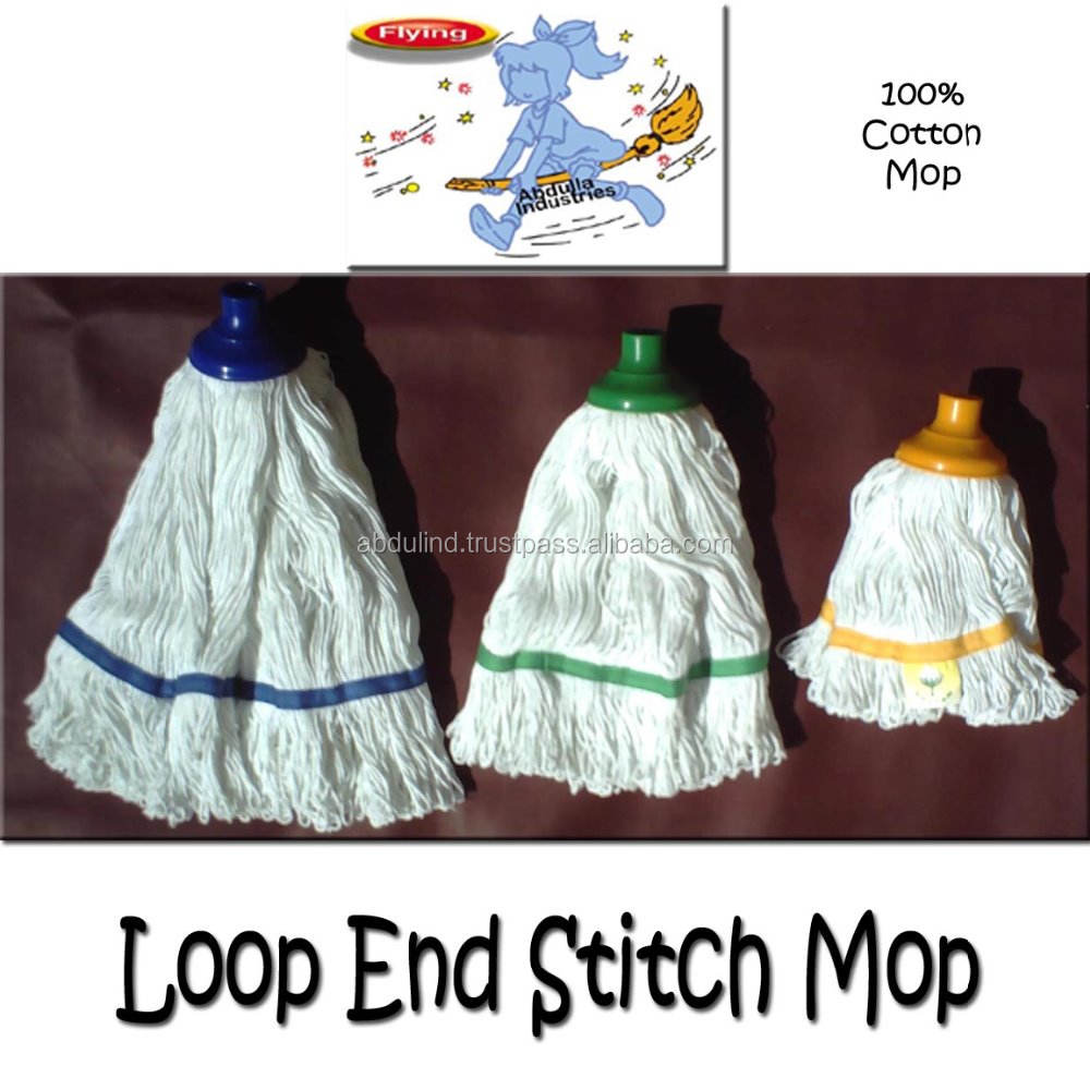 루프 끝 Stitch Round 면 Mop (큰 Mop, Medium Mop, Small Mop)