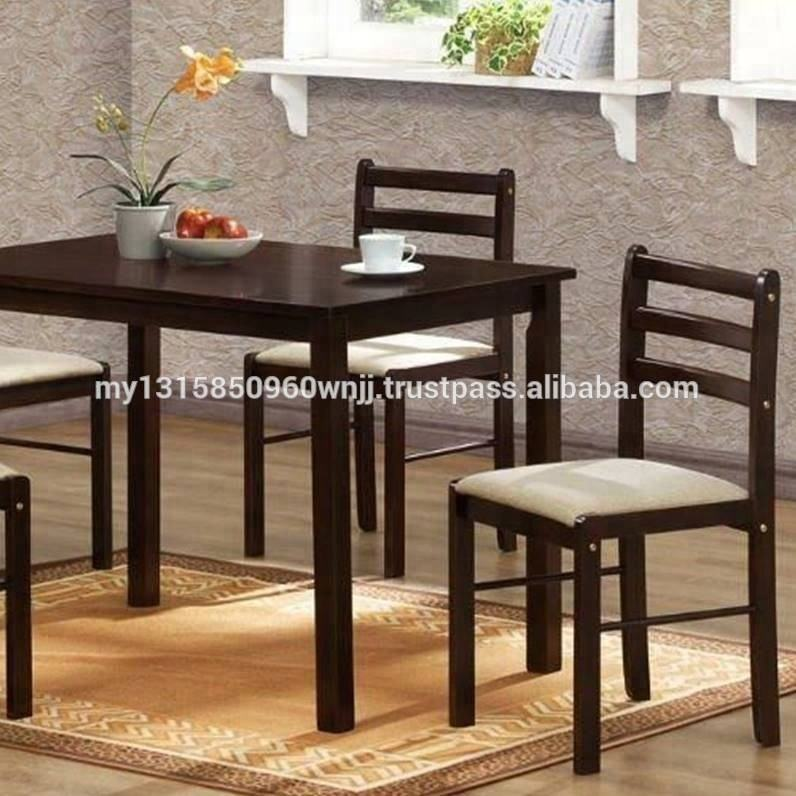 Starter 5 Pieces Dining Set MDF Wooden Dining Table Set Malaysian Wooden Furniture with Cheap Price