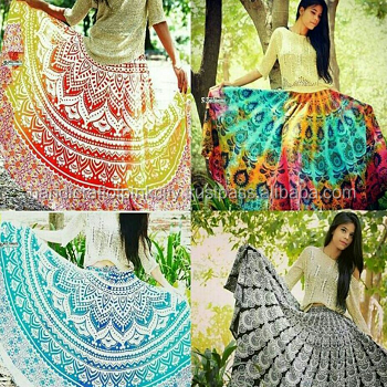 Indian Ladies Vintage Beautiful Women Skirt Cotton mandala skirts
