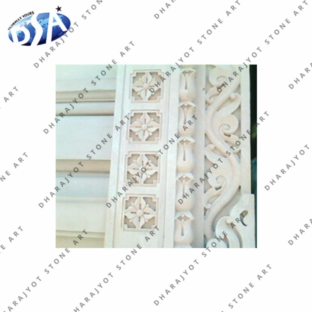 Beautiful marble carving cornice moulding
