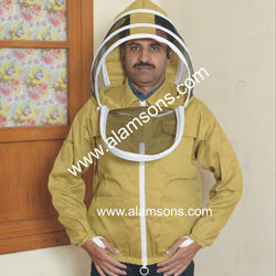 High Quality 100% Cotton Jacket for Beekeeper / Beekeeping Jacket with fencing veil