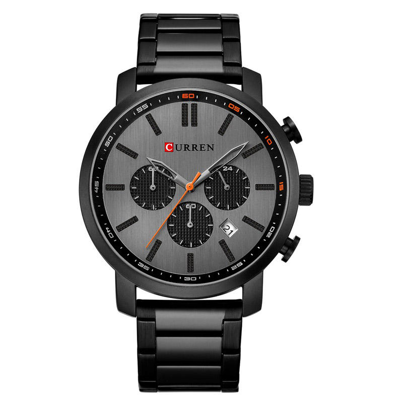 CURREN-8315 Best Price Stainless Steel Band Bule Three Chronograph Movement Man Watch Mechanical