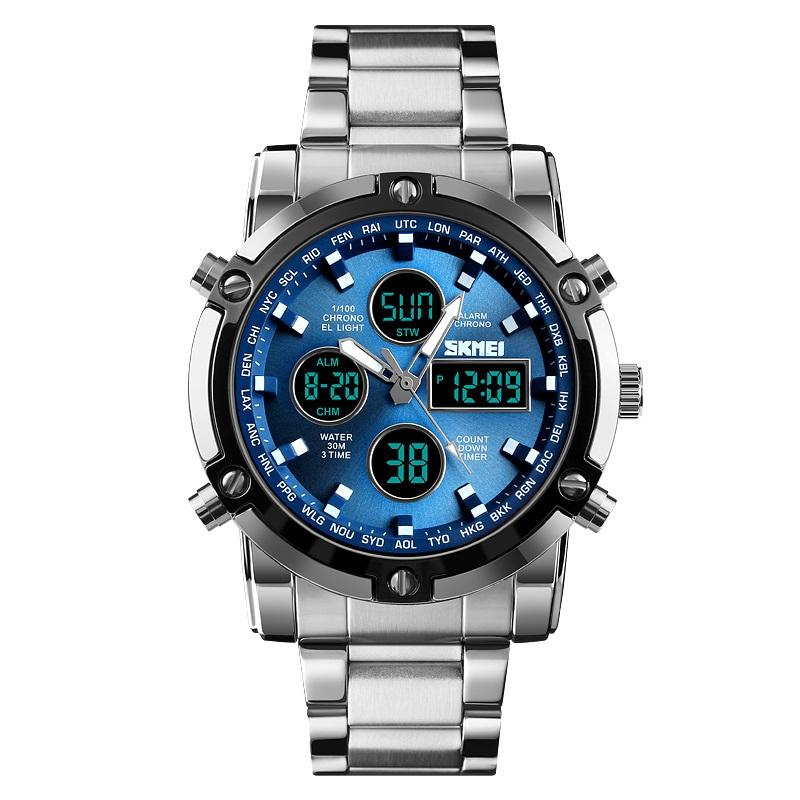 Best gifts Brand New wholesale jam tangan mens watches waterproof chronograph stainless steel analog quartz