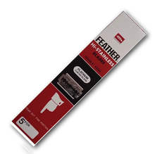 Feather Razor Shaving Blades HI-STAINLESS Double edge Platinum coated - RED
