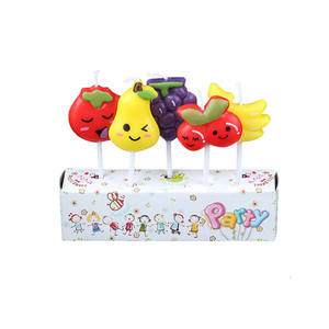 Wholesale fruit cute birthday cake candle factory