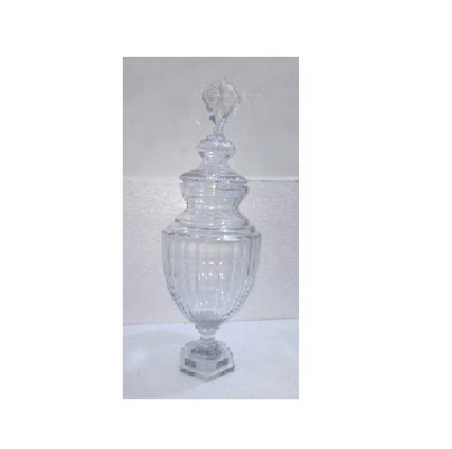 decorative clear glass vase