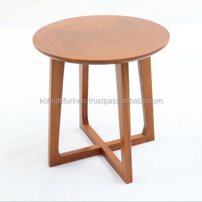 Indonesia Modern Round Center Table from Teak Wood Material Living Room Furniture