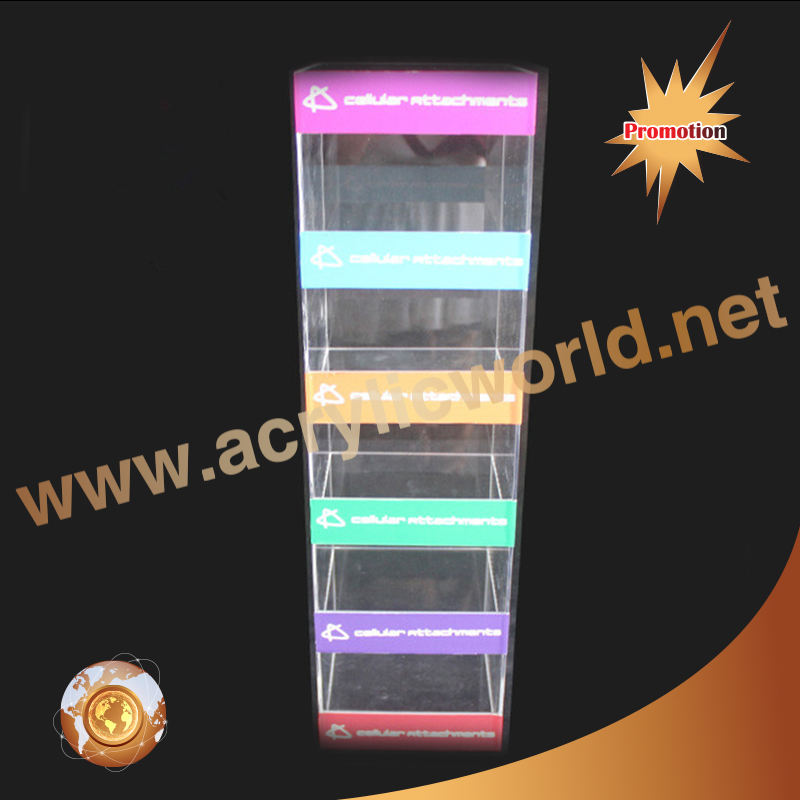 Acrylic Fashion Cell Phone Accessories Mobile Phone Charger Display Stand