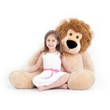 OEM Soft Lifelike Animal Lion Stuffed Large Plush Toy Sitting Lion