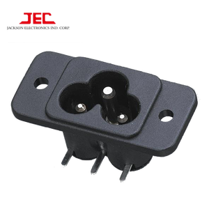 JEC TAIWAN IEC60320 C6 POWER AC INLET 3 pin SOCKET 2.5A 250V outlet plug connector