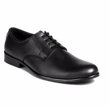 MEN'S BLACK, TAN FORMAL TOE TONE EFFECT DERBY SHOES ON T-UNIT SOLE