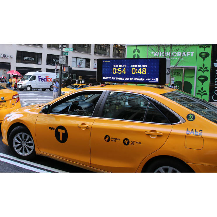 Full Color Outdoor P2.5 Taxi Top LED