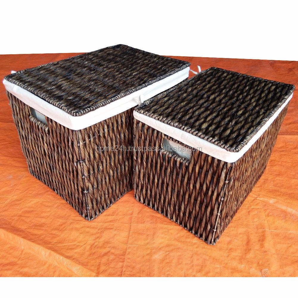 Wholesale Wicker Laundry Basket, Hand woven Natural Box & Bins