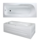 Rectangle Bathtub from Turkey Manufacture Acrylic white color tub rectangular bathroom