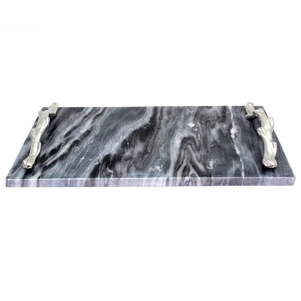 Rough Nickel Aluminum Large Metal Serving Tray