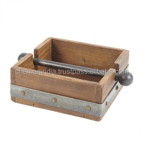 Porte-serviettes en <span class=keywords><strong>bois</strong></span> Antique, vintage