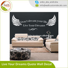Vinyl Wall Decal Quotes Don't Dream Your Life Live Your Dreams