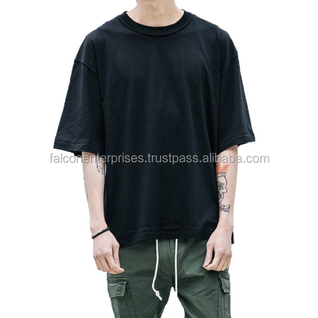 Wholesale Price Oversized T Shirt Homme Clothes T-shirt Hip Hop Tshirt Streetwear Mens Loose Fit Extended T Shirts For Hipster