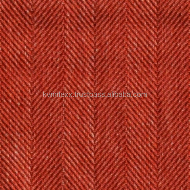 100% Melton wool crewel fabric