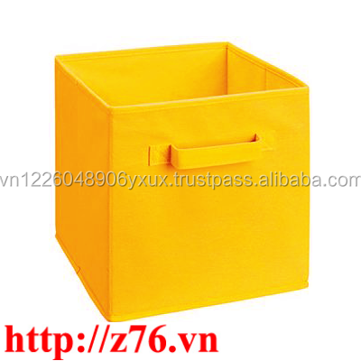 Cutomized PP Non Woven Cardboard Storage Box/ Foldable/ Container/ Drawer/ Basket Bin