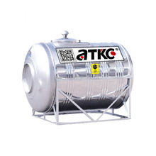 SUS304 Horizontal Stainless Steel Water Tank 1000L-40000L