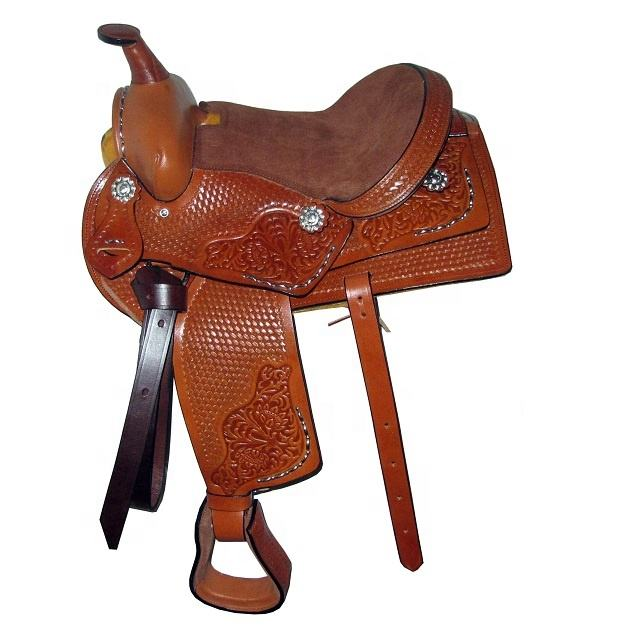 Western Saddle With Silver Fittings