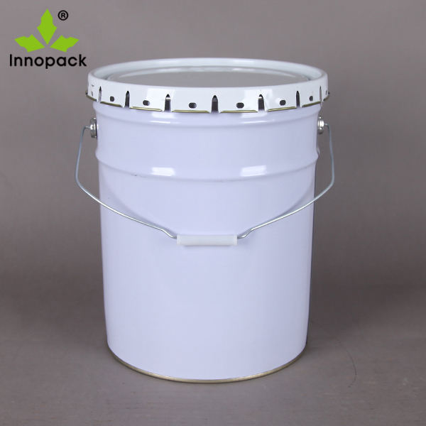 20 Liters metal grease packaging bucket with crown lid
