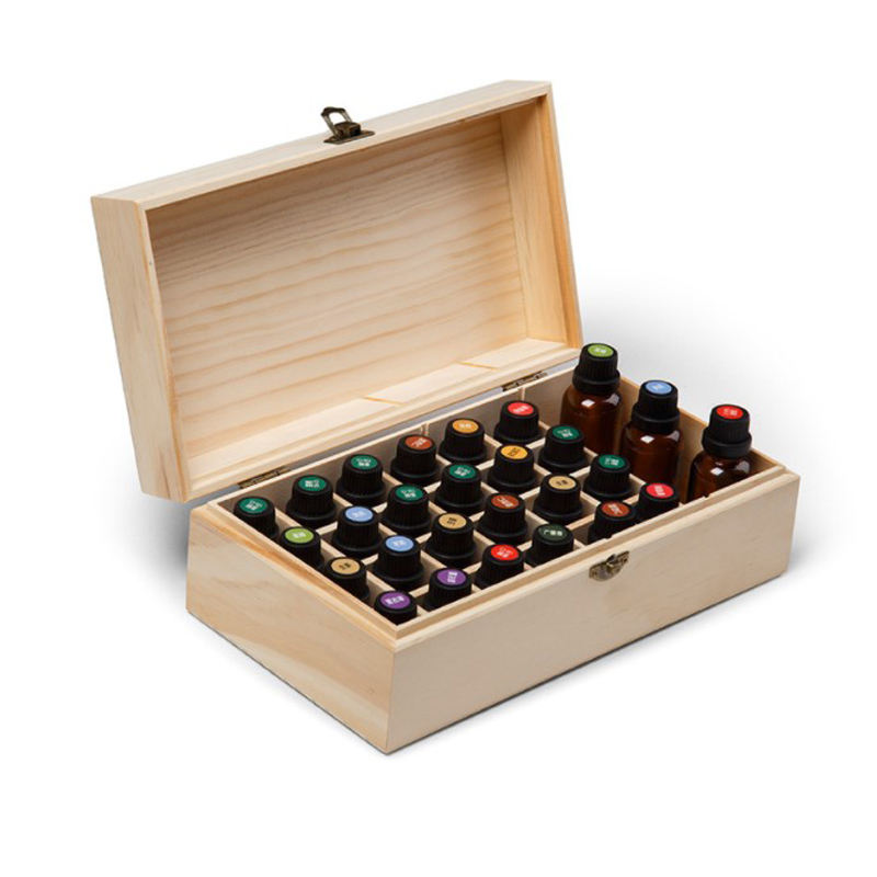 2019 high quality natural solid wood wooden essential oil box in indoor