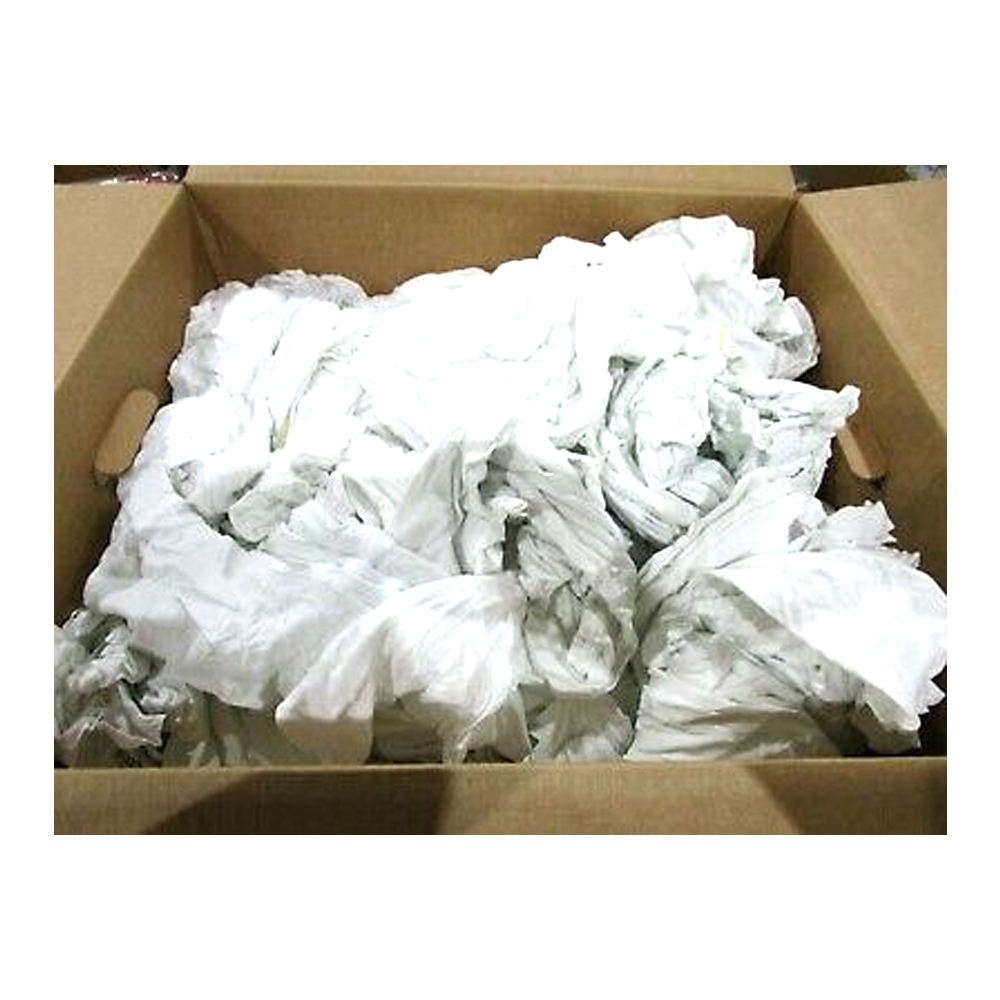 White new cloth wiping rags textile / viscose waste rags clips Bangladesh