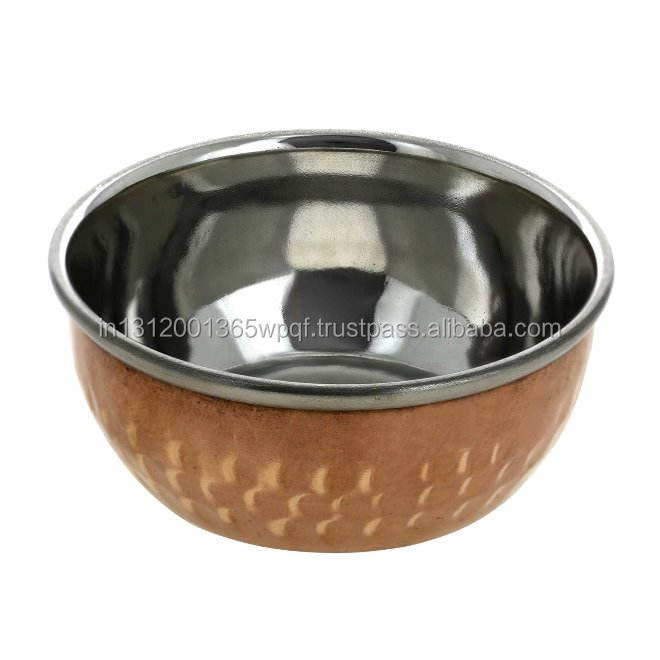Small Hammered Copper Bowl Dia-3.25 Inches
