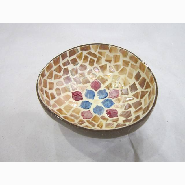Mixed color star snow detail coconut shell bowl, best selling design of coconut bowl now on sale