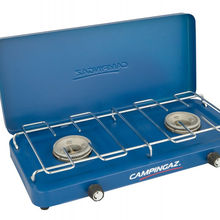 CAMPINGAZ Base Camp stove with 2 burners, 1600 watts each incl. hose + lid